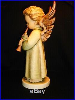 Hummel Large Winged Music Angel #173/II Festival Harmony withFlute Signed 10.75