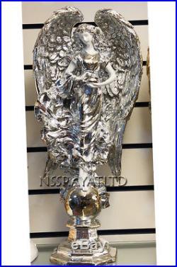 Italian Style Luxury Angel Large Wings Silver Ceramic Beautiful Wedding Gift