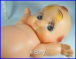 KEWPIE DOLL #49 Large 22 Vtg Marked Rubber Green Wings Angel Baby Cupie Japan
