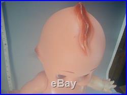 KEWPIE Mayonnaise Doll #796 Large 55cm Vtg Rubber Baby Angel ORANGE WINGS Japan