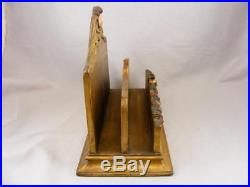 LARGE 1920s ITALIAN CARVED WINGED ANGEL GUILDED WOODEN TOLE LETTER HOLDER