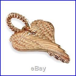 Large Angel Heart Wings, Wings Of Love, 21mm in 14K Pink Gold