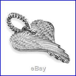 Large Angel Heart Wings, Wings Of Love, 21mm in 14K White Gold