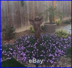 Large Angel Statue With Roses Wings 41 Sculpture Garden Lawn Home Art Decor