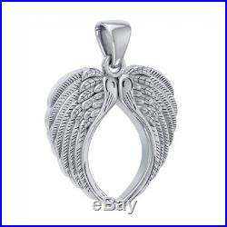 Large Angel Wing Sterling Silver Pendant by Peter Stone Unique Fine Jewelry