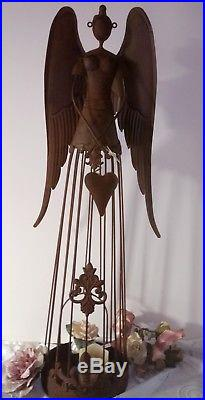 Large Angel Wings Lantern Patina Metal Decode Shabby Vintage Country House