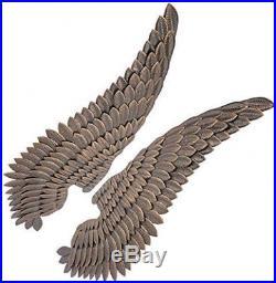 Large Angel Wings Pair Set 2 Metal Wall Art Ornament Pub Bar Restaurant Decor