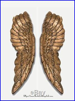 Large Antique Gold Angel Wings, Victoria's Secret Angel Wings, Wall Hanging Wing