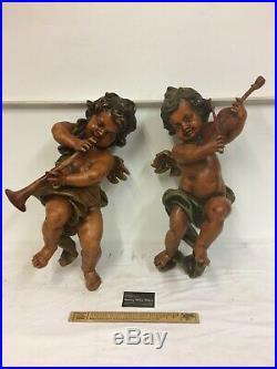 Large Antique Winged Cherub Angels