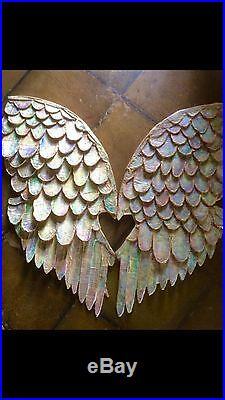Large Beautiful Iridescent Decorative Angel Wings Handmade