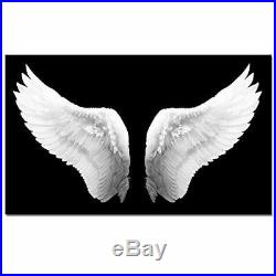 Large Black and White Canvas Prints Angel Wings Wall Art Contemporary Art Paint