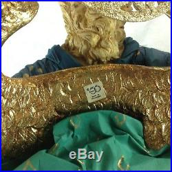 Large Department 56 Winged Angel Christmas Holiday Figure Paper Mache Figurine