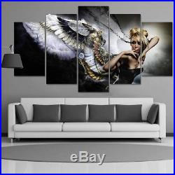 Large Framed Angel Wings Sexy Canvas Wall Art Print Decor 5 pc