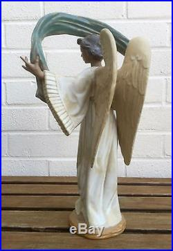 Large Lladro -winged Harmony- Figure Model 2241 -heavenly Holy Angel- Boxed