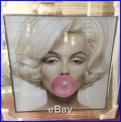 Large Marilyn Monroe Angel Wings Picture Liquid Art Mirror Frame 116cm X 66cm