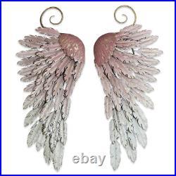 Large Metal Angel Wings Decor