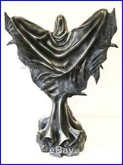 Large Raven Fey Dark Angel Shadow Ghastly Crow Wings Volcanic Statue Figurine