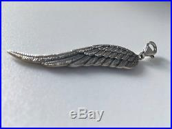 Large Thomas Sabo sterling silver angel wing pendant charm glam & soul