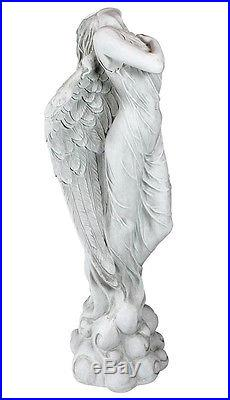 Large Winged Angel Ascending Statue Sculpture 40