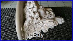 Large Winged Angel Cherub Wall Sconce Corbel Shelf