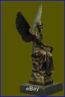 Large Winged Victory Angel Leader Warrior Pure Bronze Copper Art Sculpture Sale