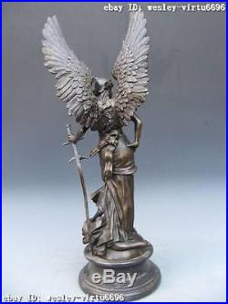 Large Winged Victory Angel Leader Warrior Pure Bronze S
