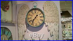 Large Wooden Angel Wings Wall Art Decor-Victorian Cottage