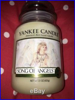 Large jar Yankee Candle Song Of Angels Rare Hard To Find angel wings