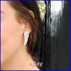 Latelita London 22ct Gold Vermeil Large Angel Wing Earrings