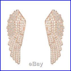 Latelita London 22ct Rose gold Vermeil Large Angel Wing Earrings