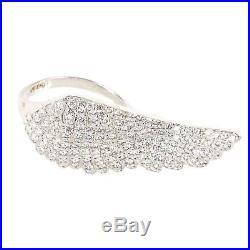Latelita London 925 Sterling Silver Large Angel Wing Ring