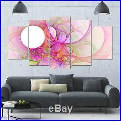 Light Pink Angel Wings on White' Graphic Art Print Multi-Piece Image on Canvas