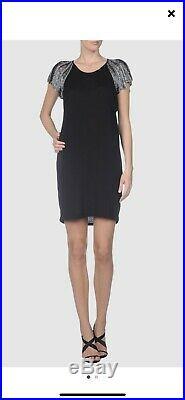 Little Black Alexander McQueen Dress Size Large 12 UK Silver Angel Wings