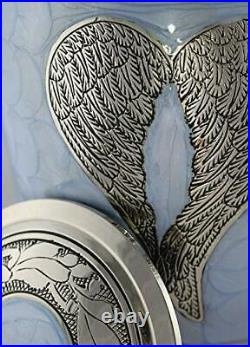 Loving Angel Wings Blue/Silver Cremation Urns for Human Ashes Adult for Funer