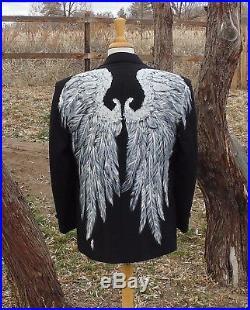 Men's Angel Wings Tux Jacket walking supernatural Christmas goth Wedding bible