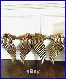 Metal Angel Wings Wall Decor Gold large