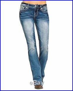 Miss Me Women's Light Angel Wing 32 Bootcut Jeans M5082b87bv