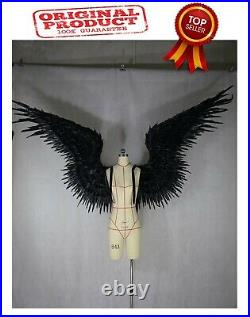 NEW Black feather wing devil angel Halloween wings catwalk model large cosplay