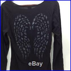 NEW Harley Womens Starlight l/s lazerback blk angel wings M L XL 3XL