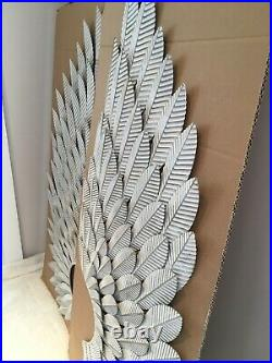 NEW Large NEXT Silver Angel Wings Wall Mounted Art