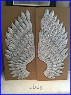 NEXT Large Silver Angel Wings Wall Mounted Art (NEW)