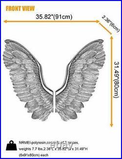NRMEI Large Size Wall Hanging Wings Grand Angel Wings 2 Piece Set Vintage Sty