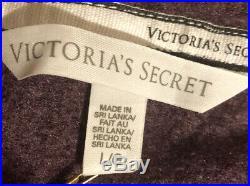 NWT Victoria Secret Sequin Angel Wings Hoodie Purple Full Zip Large