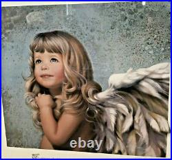 Nancy (N. A.) Noel Mercy Winged Angel Large Print Framed & Matted