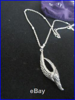 New Scott Kay Sterling Large 2,5 Angel Wings Pendant W Long 20 Necklaces
