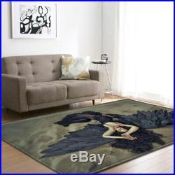 Nordic Angel Wings Carpet Soft Flannel Area Rug Parlor Kids Room Anti-slip Large