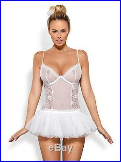 OBSESSIVE Swangel Body, Wrap Skirt, Lace Socks, Hair Comb, Aureole and Wings Set