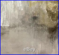 ORIGINAL ROMANTIC PAINTING angel art Gold Silver LARGE ABSTRACT ANGEL ART WINGS