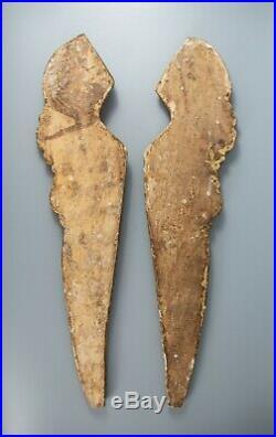 Pair Large Vintage Italian Giltwood Angel Wings Fragments Wall Hangings