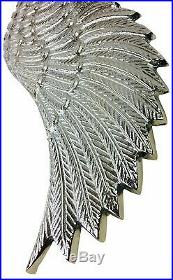 Pair Of Silver Large Angel Wings Vintage Ornament Wall Art Hanging Decoration